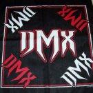 DMX Bandana Red and White Logos Black