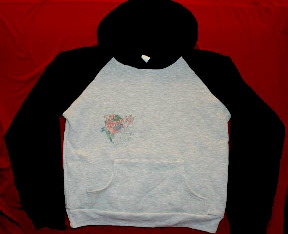 The Donnas Jersey Hoodie Sweatshirt Group Photo Gray and Black Size Small