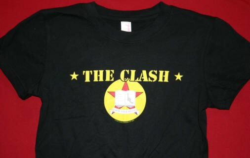 The Clash Babydoll T-Shirt Star Black Size XL