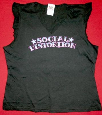 Social Distortion Sleeveless Babydoll Shirt Black Size Large