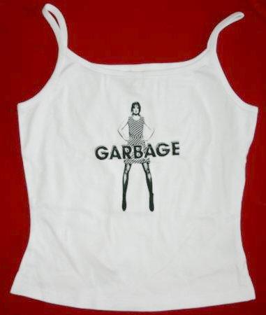 Garbage Spaghetti Strap Tank Top Shirley White Size XL