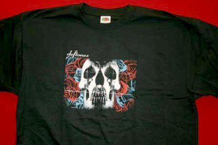 Deftones T-Shirt Skull Logo 2003 Tour Black Size XL