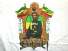 Haile Selassie T-Shirt Imperial Majesty White Size XXL