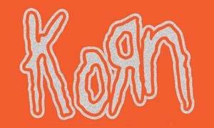Korn Vinyl Sticker Silver Glitter Logo