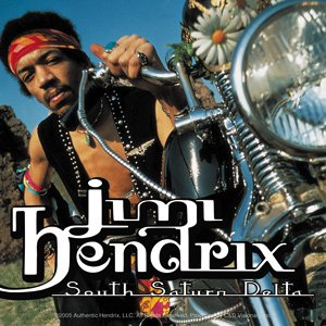 Jimi Hendrix Vinyl Sticker South Saturn Delta