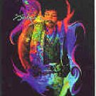 Jimi Hendrix Vinyl Sticker Rainbow Photo