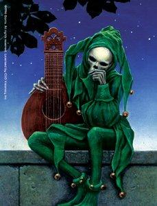 Grateful Dead Vinyl Sticker Jester Skeleton