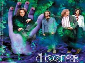 The Doors Vinyl Sticker Purple Group Logo