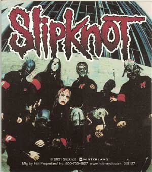 Slipknot Vinyl Sticker Band Photo