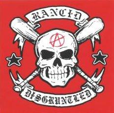 Rancid Vinyl Sticker Skull Disgruntled Logo