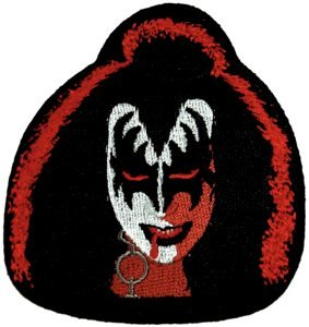 Kiss Iron-On Patch Gene Simmons Face