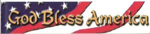 God Bless America Vinyl Bumper Sticker