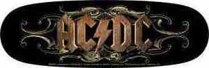 AC/DC Vinyl Sticker Rusty Letters Logo