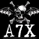 Avenged Sevenfold Vinyl Sticker A7X Death Bat Logo