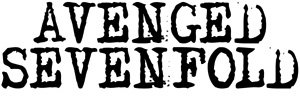 Avenged Sevenfold Vinyl Cut Sticker Black Letters Logo