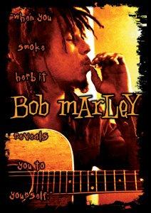 Bob Marley Vinyl Sticker Smoke Herb Logo