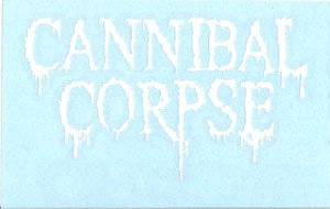 Cannibal Corpse Vinyl Cut Sticker White Letters Logo