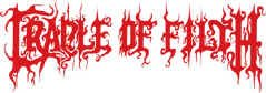 Cradle of Filth Vinyl Cut Sticker Red Letters Logo