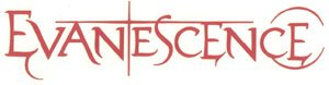 Evanescence Vinyl Cut Sticker Red Letters Logo
