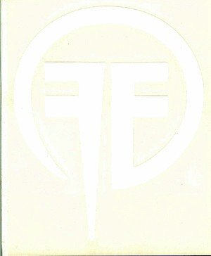 Fear Factory Vinyl Cut Sticker White FF Logo