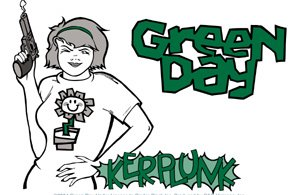 Green Day Vinyl Sticker Kerplunk Logo