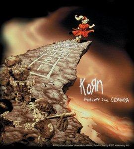 Korn Vinyl Sticker Follow the Leader Logo