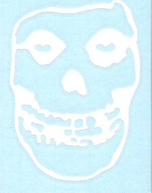 Misfits Vinyl Cut Sticker White Skull Logo