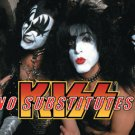 Kiss Vinyl Sticker No Substitutes Group Photo Close-Up