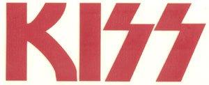 Kiss Vinyl Cut Sticker Red Letters Logo