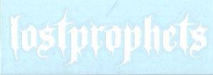Lost Prophets Vinyl Cut Sticker White Letters Logo