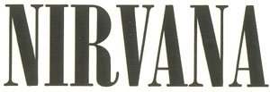 Nirvana Vinyl Cut Sticker Black Letters Logo
