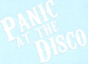 Panic at the Disco Vinyl Cut Sticker White Letters Logo