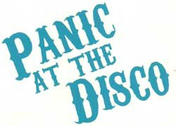 Panic at the Disco Vinyl Cut Sticker Blue Letters Logo