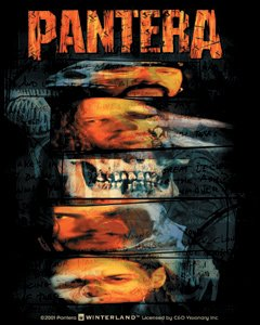 Pantera Vinyl Sticker Faces Collage Logo