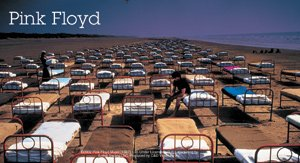 Pink Floyd Vinyl Sticker Beds Logo