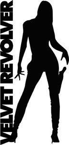 Velvet Revolver Vinyl Cut Sticker Silhouette Logo