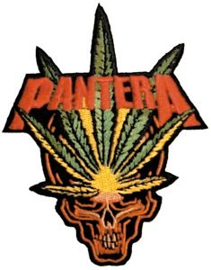 Pantera Iron-On Patch Leaf Skull Logo