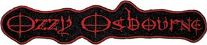 Ozzy Osbourne Iron-On Patch Red Letters Logo