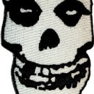 Misfits Iron-On Patch White Fiend Club Skull