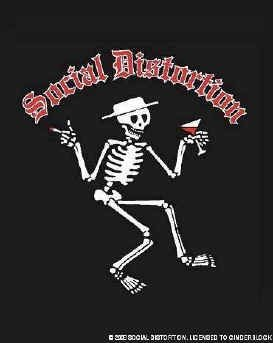 Social Distortion Poster Flag Skelly Logo Tapestry