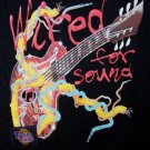 Electric Guitar T-Shirt Wired For Sound Touch Tone Black Size Large