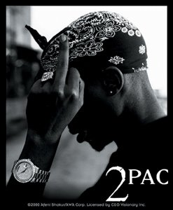 Tupac Shakur 2 Pac Vinyl Sticker Bandana Photo Logo