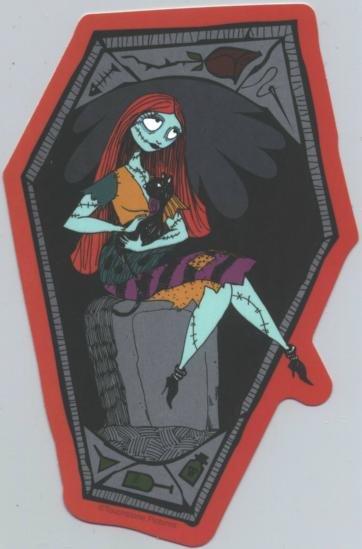 Nightmare Before Christmas Vinyl Sticker Sally Cat