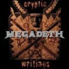 Megadeth Vinyl Sticker Cryptic Writings Logo