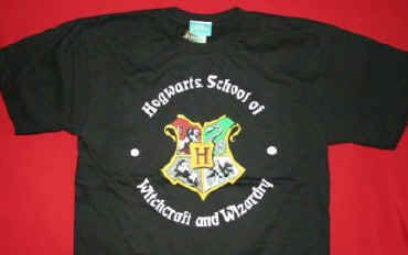 Harry Potter T-Shirt Hogwarts Crest Black Size Youth XL