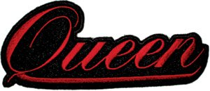 Queen Iron-On Patch Red Letters Logo
