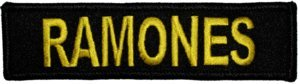 Ramones Iron-On Patch Yellow Letters Logo