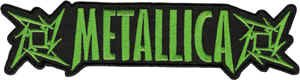 Metallica Iron-On Patch Green Letters Logo