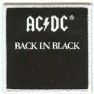AC/DC Iron-On Patch Back in Black Logo