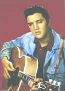 Elvis Presley Poster Flag Acoustic Guitar Photo Tapestry